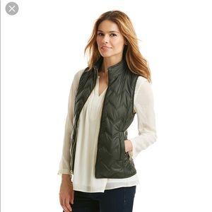Vineyard Vines Whale Tail Chevron Olive Green Vest